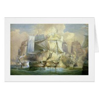 Cartão A batalha de Trafalgar, o começo do Acti