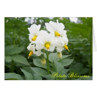 Cartão A batata floresce Notecard