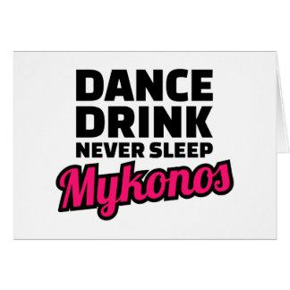 Cartão A bebida da dança nunca dorme