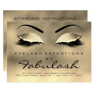 Cartão A beleza chicoteia o ouro Luxur dos cuidados