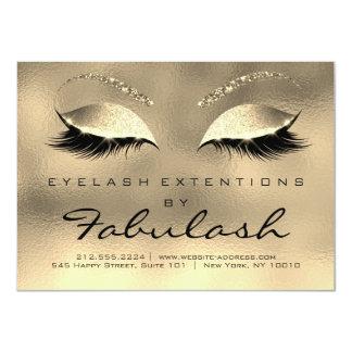 Cartão A beleza chicoteia os olhos do ouro dos cuidados