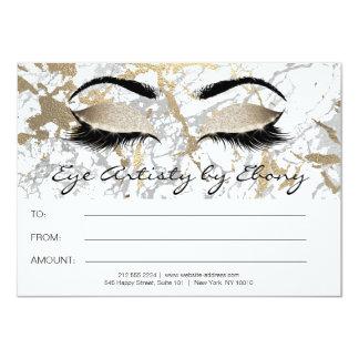 Cartão A beleza de mármore da composição do ouro Eyes o
