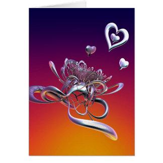 Cartão A beleza dos corações