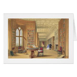 Cartão A biblioteca, castelo de Windsor, 1838 (litho da
