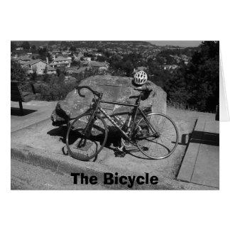 Cartão A bicicleta