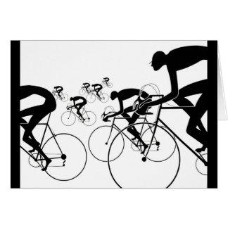 Cartão A bicicleta retro mostra em silhueta 1986