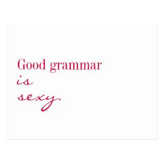 """Cartão - a boa gramática é """"sexy"""" cartoes postais"""