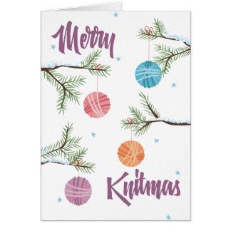 Cartão A bola de confecção de malhas do fio ornaments o