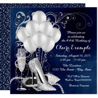 Cartão A bolsa mensageifesta de aniversario elegante da