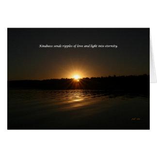 Cartão A bondade envia ondinhas do amor e da luz