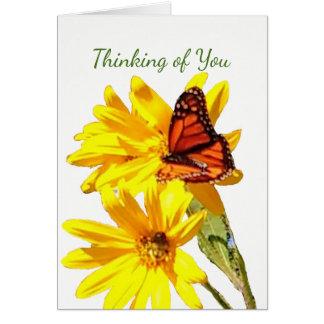 Cartão A borboleta, escreve sua própria nota, letra ou