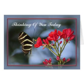 Cartão A borboleta que pensa de você carda