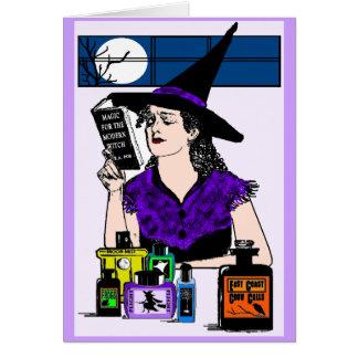 Cartão A bruxa moderna