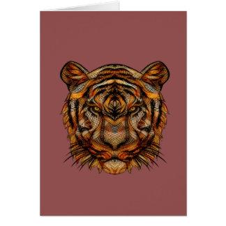 Cartão A cabeça 1a do tigre