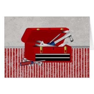 Cartão A caixa de ferramentas do pai
