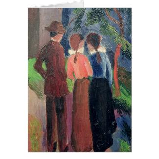 Cartão A caminhada, 1914