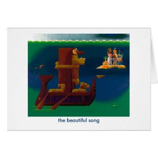 Cartão a canção bonita - notecard