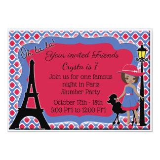 Cartão A caniche africana cor-de-rosa da menina do