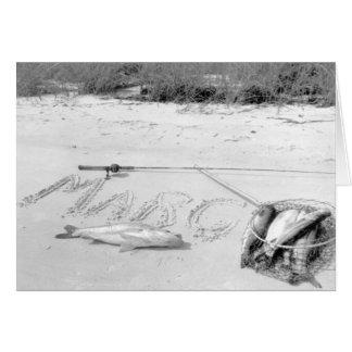 Cartão A captura do pescador, Marco Ilha, Florida, 1959