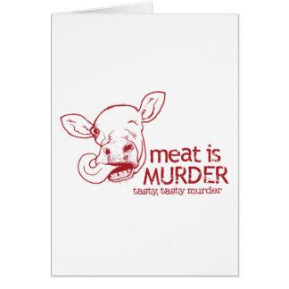 Cartão A carne é assassinato