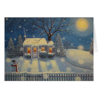 Cartão A casa de campo do boneco de neve