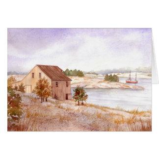 Cartão - a casa do pescador