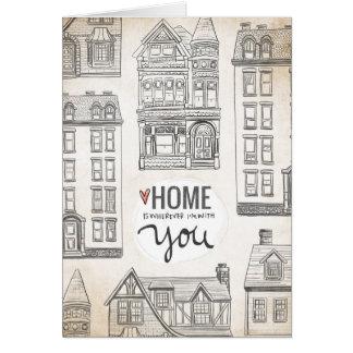 Cartão A casa é onde quer que eu sou com você