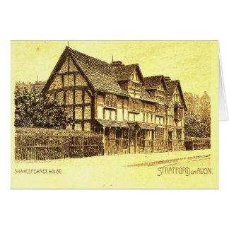 Cartão A casa Stratford de Shakespeare em Avon