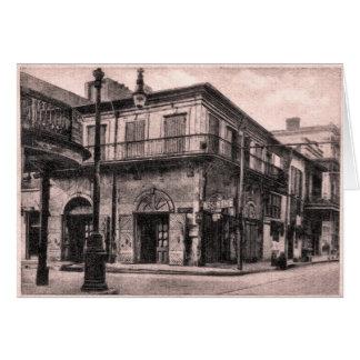 Cartão A casa velha do absinto