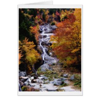 Cartão A cascata de prata