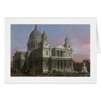Cartão A catedral de St Paul, 1754 (óleo em canvas)