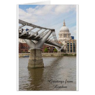 Cartão A catedral de St Paul e a ponte do milênio