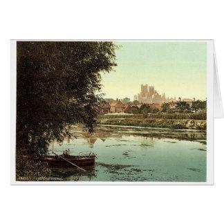 Cartão A catedral do rio, Ely, pH raro de Inglaterra