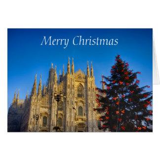 Cartão A catedral no Natal