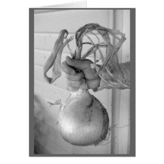 Cartão A cebola gigante