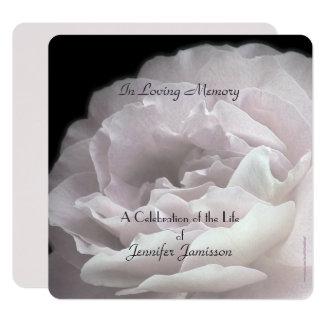 Cartão A celebração do quadrado da vida convida rosa