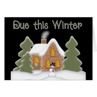 Cartão A cena devida esta gravidez do inverno anuncia o