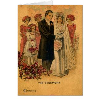 Cartão A cerimónia de casamento