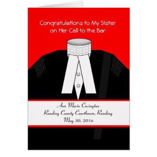Cartão A chamada ao bar para a irmã, costume, adiciona