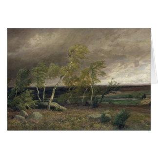Cartão A charneca em uma tempestade, 1896