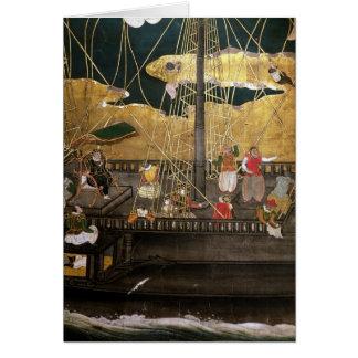Cartão A chegada do português em Japão