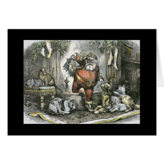 Cartão A chegada do santo Nicholas