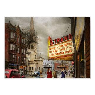 Cartão A cidade - Amsterdão NY - vida começa 1941