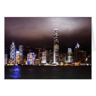 Cartão A cidade ilumina Notecard