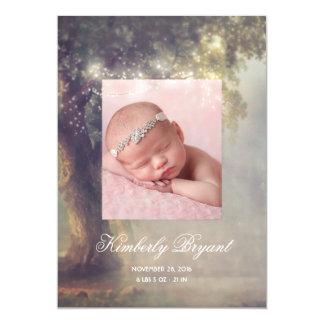 Cartão A cintilação ilumina o nascimento Enchanted árvore