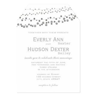 Cartão A cinza moderna tonifica o casamento da festão