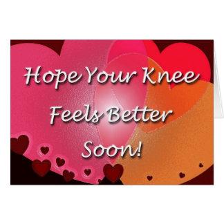 Cartão A cirurgia do joelho obtem logo corações bons