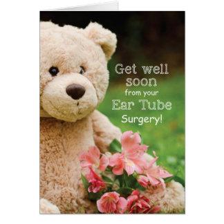 Cartão A cirurgia do tubo da orelha suportável obtem o
