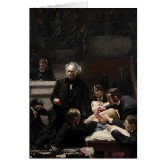 Cartão A clínica bruta por Thomas Eakins