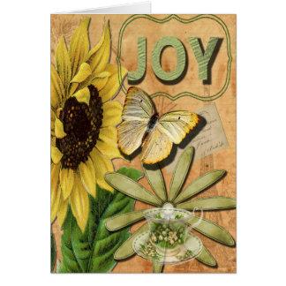 Cartão A colagem bonito da alegria, obtem bem logo
